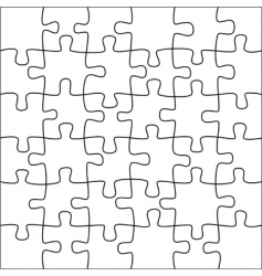 Puzzle background vector