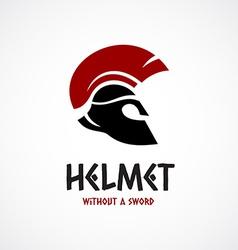 Helmet logo template greek or sparta style vector
