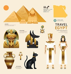 Egypt flat icons design travel concept vector