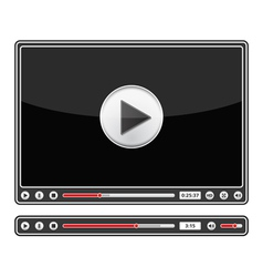 Audio and video players vector