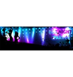 Dance banner vector