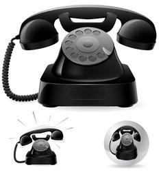 Black phone icons vector