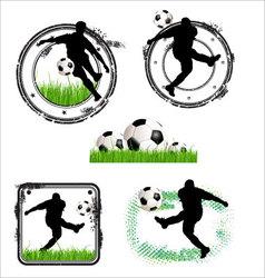 Soccer grunge stamps vector