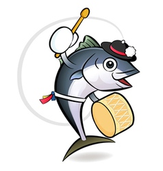 Korean tuna dance character vector