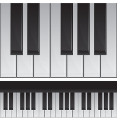 Seamless piano keys vector