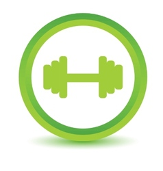 Green dumbbell icon vector