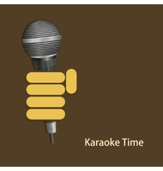 Modern karaoke time background vector