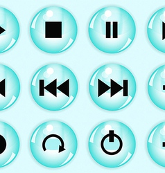 Glossy button set vector