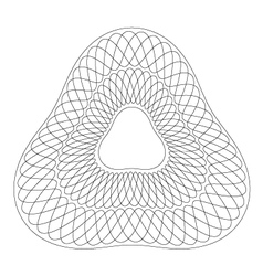 Rounded triangle guilloche pattern vector