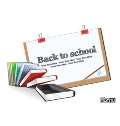 Education drawing board vector