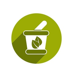 Mortar and pestle icon isolated vector