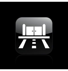 Road doors icon vector