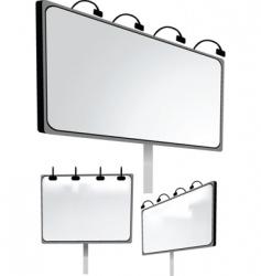 Advertising boards vector
