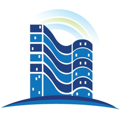 Real estate buildings logo vector