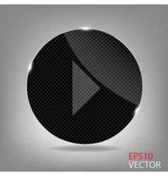 Glass button media icon vector