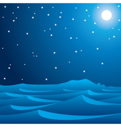 Desert in moonlight vector