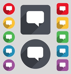 Speech bubble chat think icon sign a set of 12 vector