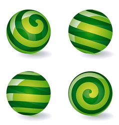 Striped spherical icons vector