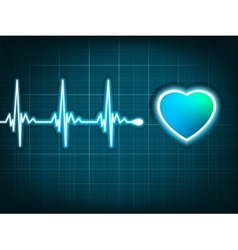 Heart beat and a heart eps 8 vector