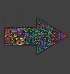 Abstract arrow vector