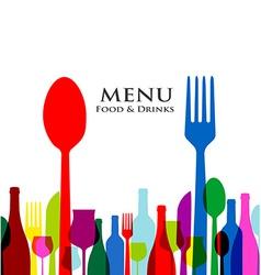 Retro cover restaurant menu designs on white vector