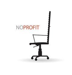 No profit with chair vector