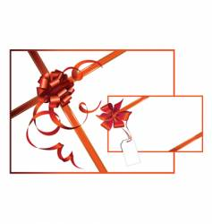 Celebratory card with red ribbon vector