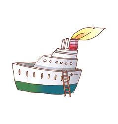 A cruise has been anchored vector