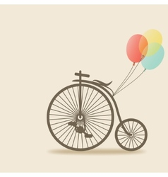 Bike with balloons vector