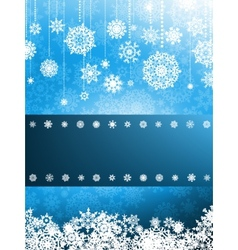 Christmas card with christmas snowflake eps 8 vector