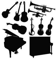 Music instrument black vector