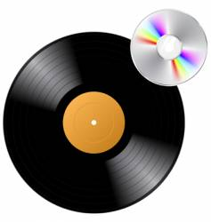 Vinyl record with cd vector