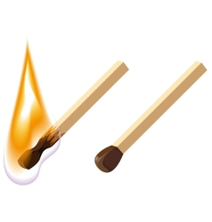 New and burning match vector