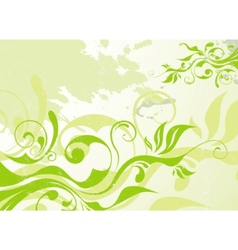Abstract green summer background vector