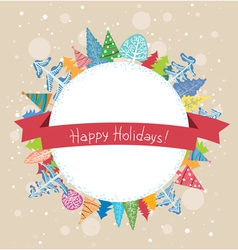 Winter holidays vector