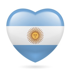 Heart icon of argentina vector