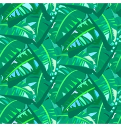 Tropical vintage pattern with big banana leafs vector