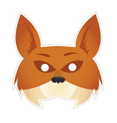Mask fox vector
