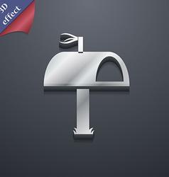 Mailbox icon symbol 3d style trendy modern design vector