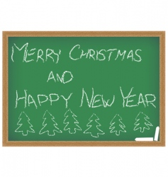 Chalkboard with christmas wish vector