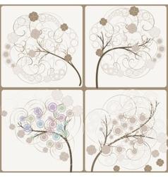 Artistic trees vector