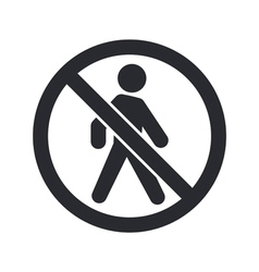 Forbidden access icon vector