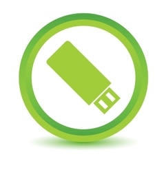 Green flash drive icon vector