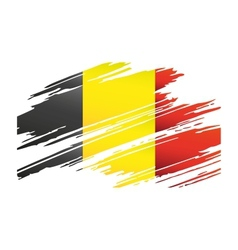 Flag belgiumin the form traces brush vector