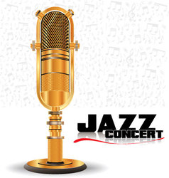 Abstract golden retro microphone vector