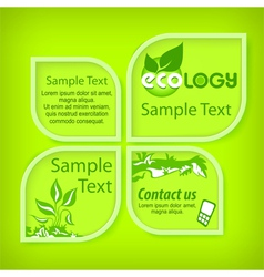 Ecological green banners vector