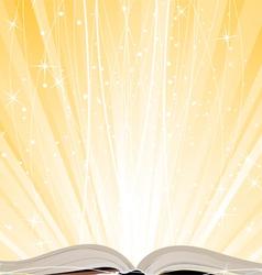 Shining open book vector