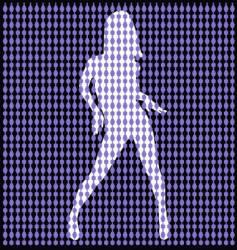 Dancer behind bead curtain vector