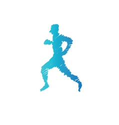 Sport man abstract isolated vector