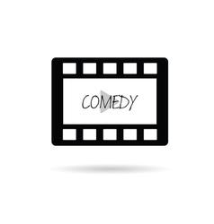 Film tape comedy vector